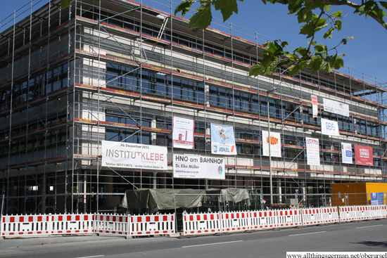 The Ärtzehaus in the Nassauer Straße during the building phase - August 2012