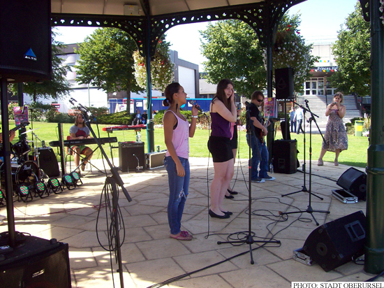 The IGS Band -Just Music- at the National Bandstand Marathon in Rushmoor (Photo: Stadt Oberursel)