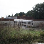 The playground behind the unused classrooms in the Marxstrasse