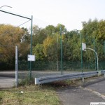 The public basket ball court in the Marxstrasse