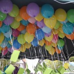 Balloon highlighting children's rights waiting to be released