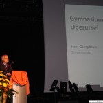 Hans-Georg Brum at the opening of the Grammar School extension