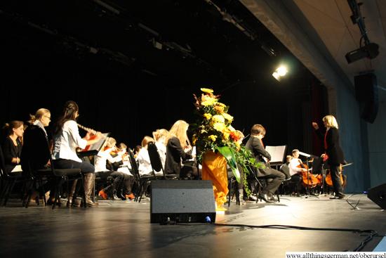 The grammar school symphony orchestra