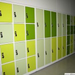 New lockers with combination locks