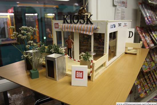 A model of the kiosk