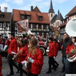 One of the bands at the Marktplatz