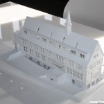 The model for the re-development of the building, northern face