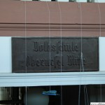 The Volksschule Mitte sign in the stairwell