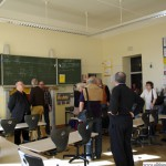 Visiting the classroom on the second floor