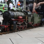 The miniature steam train at the Bahnhofsfest