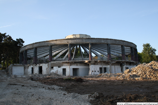 The shell of the old indoor swimming pool building