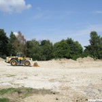 Here is where the old swimming pool once stood