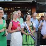 Opening the wine festival: Louisa Follrich, Sabine Wagner, Annabel I., Hans-Georg Brum