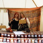 Rebecca Finger and her friend selling sweet temptations - jam!