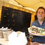 Roland Rohrer with Bannocks at the Scottish Bakery www.scottish-bakery.de