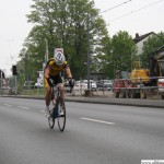 The second of the Junioren passes Camp King during the cycle race on Thursday, 1st May, 2014