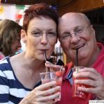 Peter Schüssler with Nicole Horn in the European Village