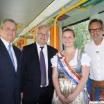 Deputy Mayor Patrice Konieczny (Epinay) with Mayor Hans-Georg Brum, Fountain Queen Carolyn II and Harry in the U-Bahn waiting to enter the station