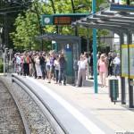 Entering Oberursel's station