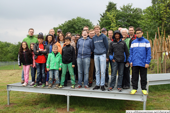 The group at the official opening of the Jugendfläche Eschbachweg on 10th May 2014
