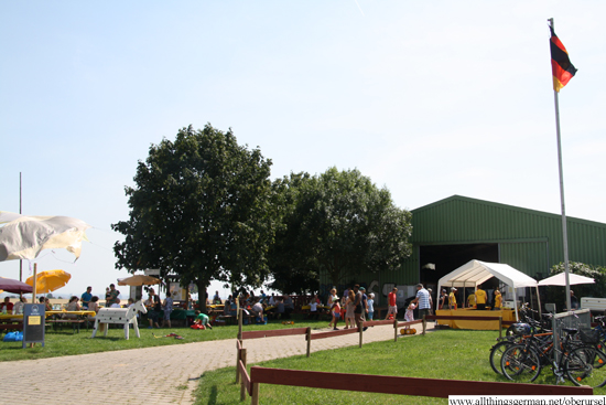 The barn, where food and drink are served and special events take place throughout the summer