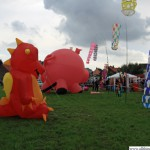 Inflatables on the kite-flying field