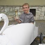 Tobias in the swan