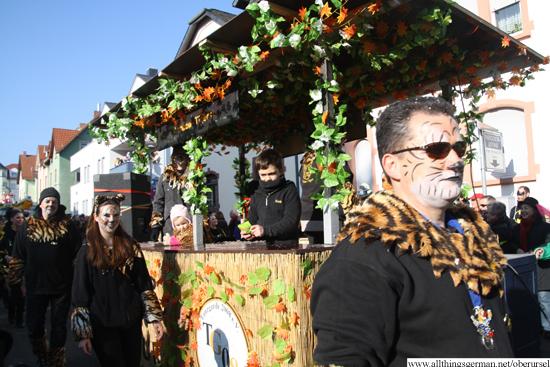 Tanzgarde 2008 e.V. - Babytigers on Tour - die Kleinsten des Vereins - Motivwagen