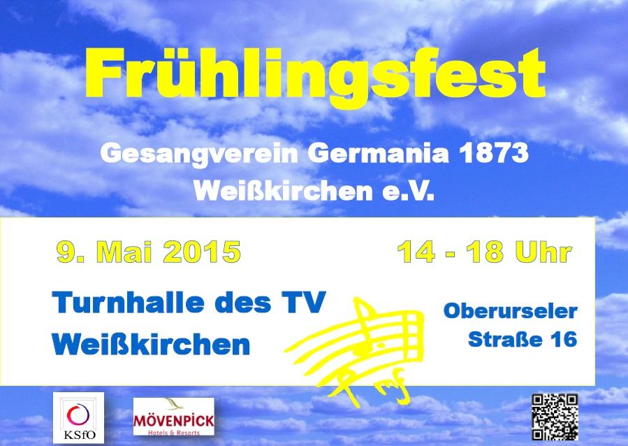 Germania 1873 Weisskirchen Fruehlingsfest 2015