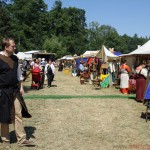 Market stalls at the Feyerey