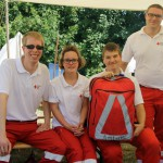 The Red Cross team