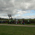 Classic tractors on show at the maize maze