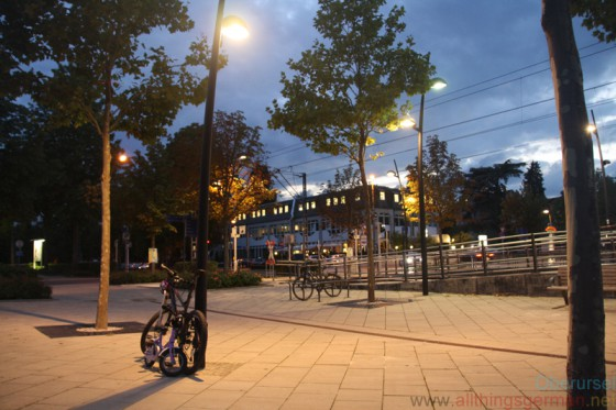 Oberursel's station forecourt at 8.30pm on Wednesday, 2nd September, 2015