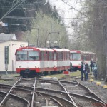 Nrs. 305 and 304 (uncoupled behind them is nr. 303) in the refuge siding in Oberursel