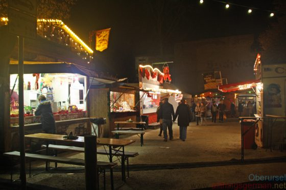 The new car park at the Urselbach behind the Stadthalle is hosting a small selection of stalls at the Christmas Market for the first time this year.