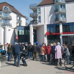 Crowds at the Epinay-Platz in Oberursel on Saturday, 25th March, 2017