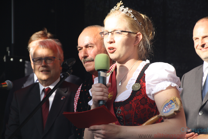 Ann-Kathrin opening the Brunnenfest on Friday, 9th June, 2017