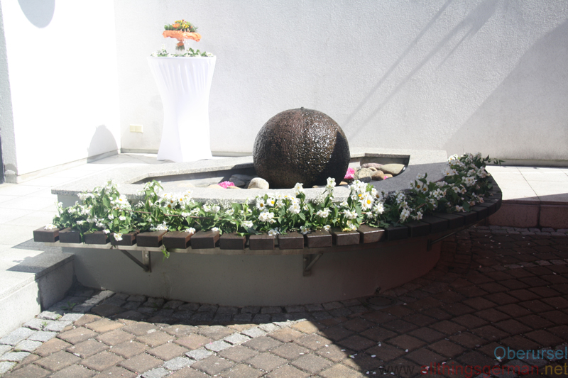 The St.Crutzen-Fountain at the Inauguration on Saturday, 26th May, 2018