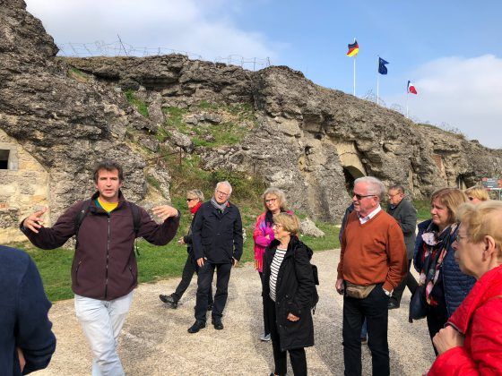 The group were given an insight into the horrors of the battle at the Douamont defences
