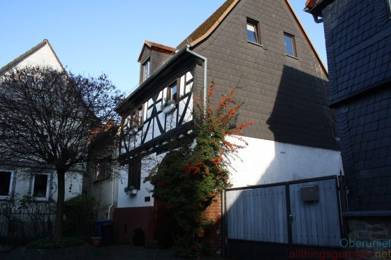 Weidengasse 9 in Oberursel - the Synagogue was located behind this building