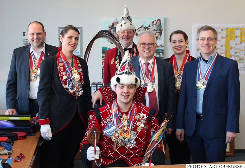 Marcel I. in the Mayor's Office on Monday, 25th Februar, 2019 (Photo: Stadt Oberursel)