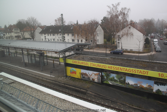 Oberursel Station - view of the platform