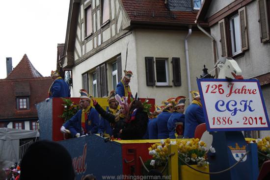 Carnevalsgesellschaft 1886 Kronberg Komiteewagen 125 Jahre CGK