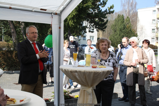 Hans-Georg Brum and Traute Grier at the 5th anniversary of the Church Meeting Point