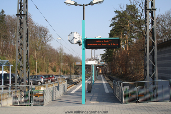 The Hohemark Terminus during the strike on 20th March 2012