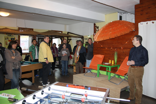 Opening the Jugendtreff (Youth Club) in Oberstedten
