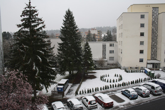 Snow in Oberursel on Easter Monday 2012
