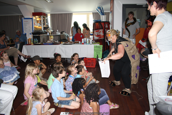 The Gruffalo being performed at Helen Doron Early English during the Bahnhofsfest