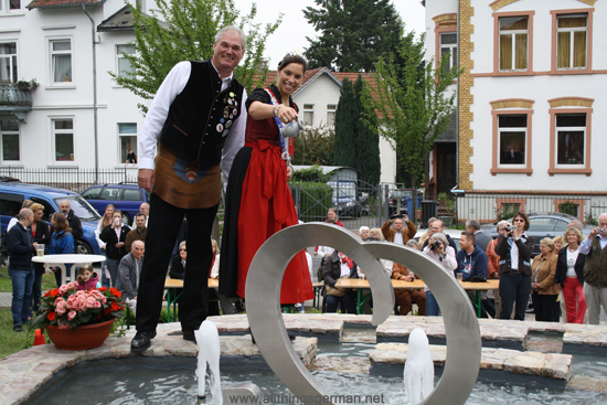 The Inauguration of the Marienbrunnen with Apple Wine poured from a Bembel