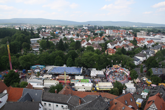A view of the Bleiche from the tower of St.Ursula's Church.